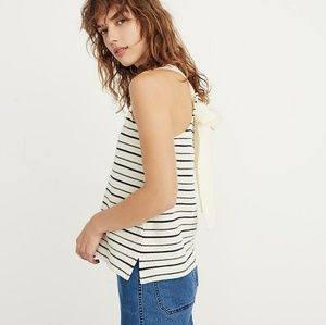 Madewell Texture & Thread  Striped Bow Back Tank